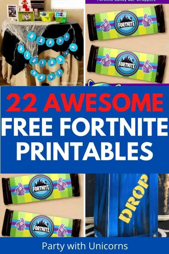 22 Free Fortnite Party Printables
