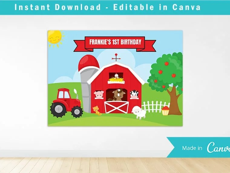 farm party printables free download