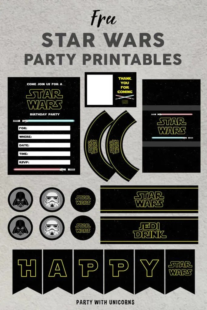 Star Wars Party Printables Free Download