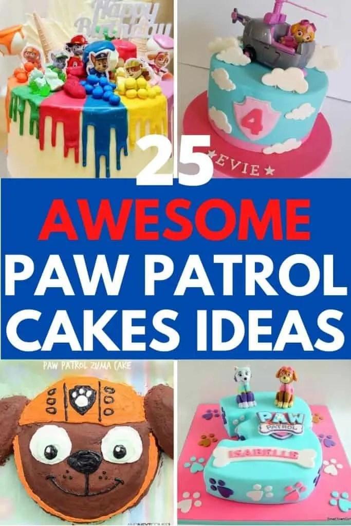 25 Paw Patrol Cake Ideas Supplies Tutorials And Recipes