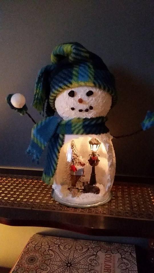 Diy Pickle Jar Snowman Party Wowzy
