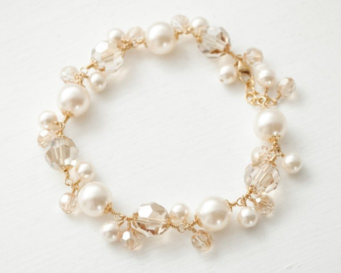 Vienna_Bridal Crystals and Pearls Bracelet
