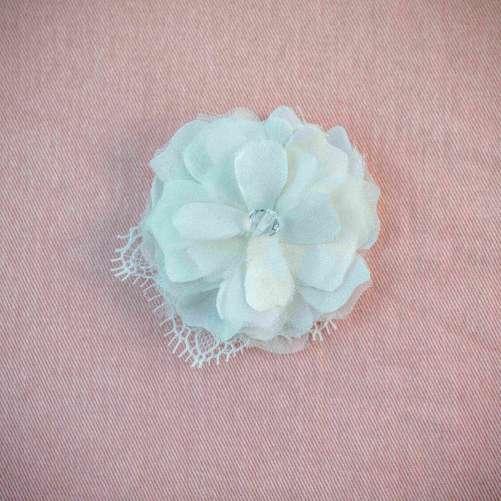 Clara_Bridal Hair Accessory_Organza Silk Flower_Hair Clip