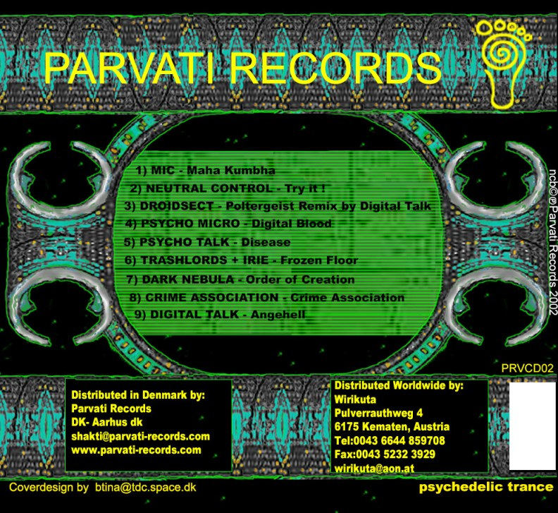 va - Psychedelically Yours - prvcd02 back cover
