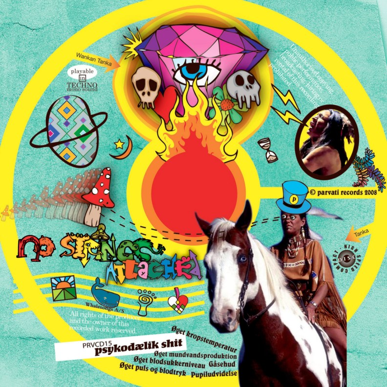 Split Album - Psilo Cowboys, Derango & Maniac Bubbles - No Strings Attached - prvcd15 - CD image