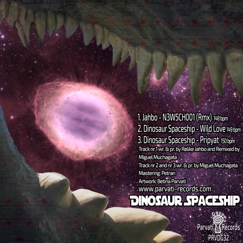 Dinosaour Spaceship - prvdg32 - back cover