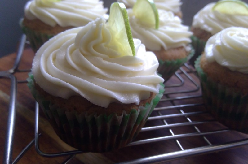 Easy Lime cupcakes with Lime buttercream
