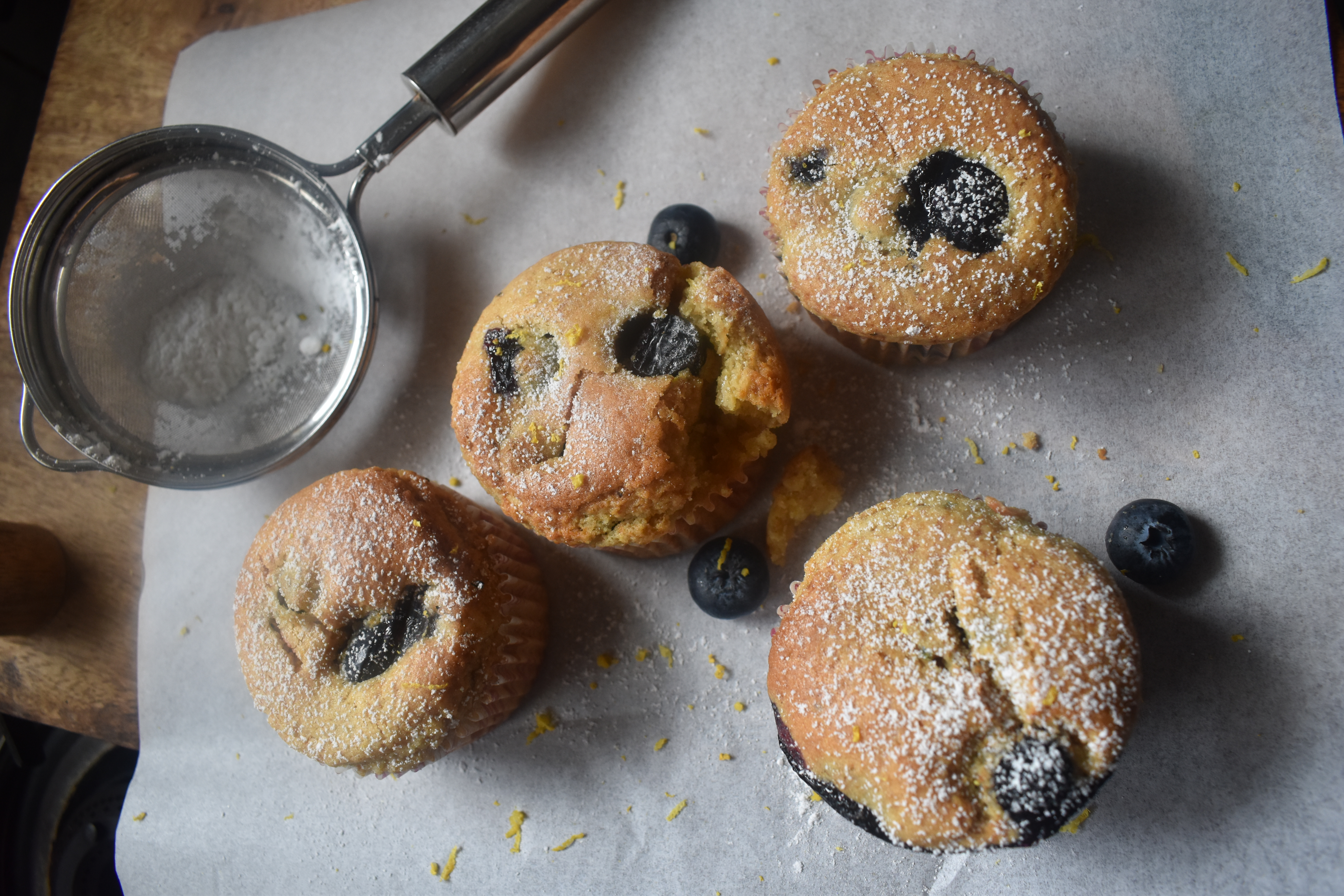 Lemon Blueberry Yogurt Muffins