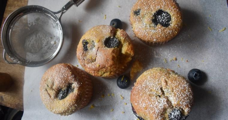 Lemon Blueberry Yogurt Muffins