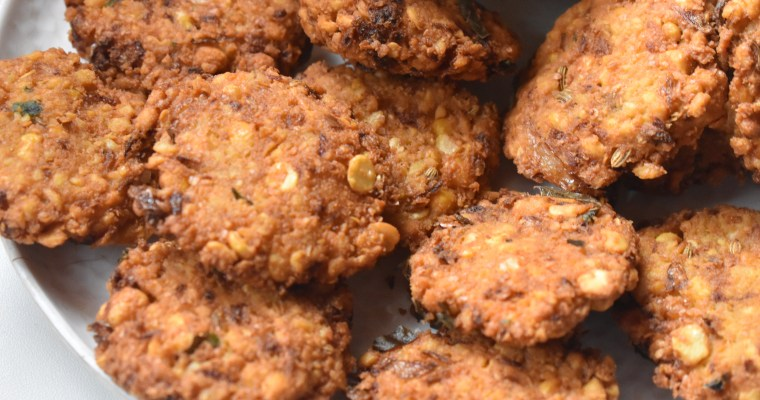 3 Steps Easy Masal Vadai/Lentil Fritters