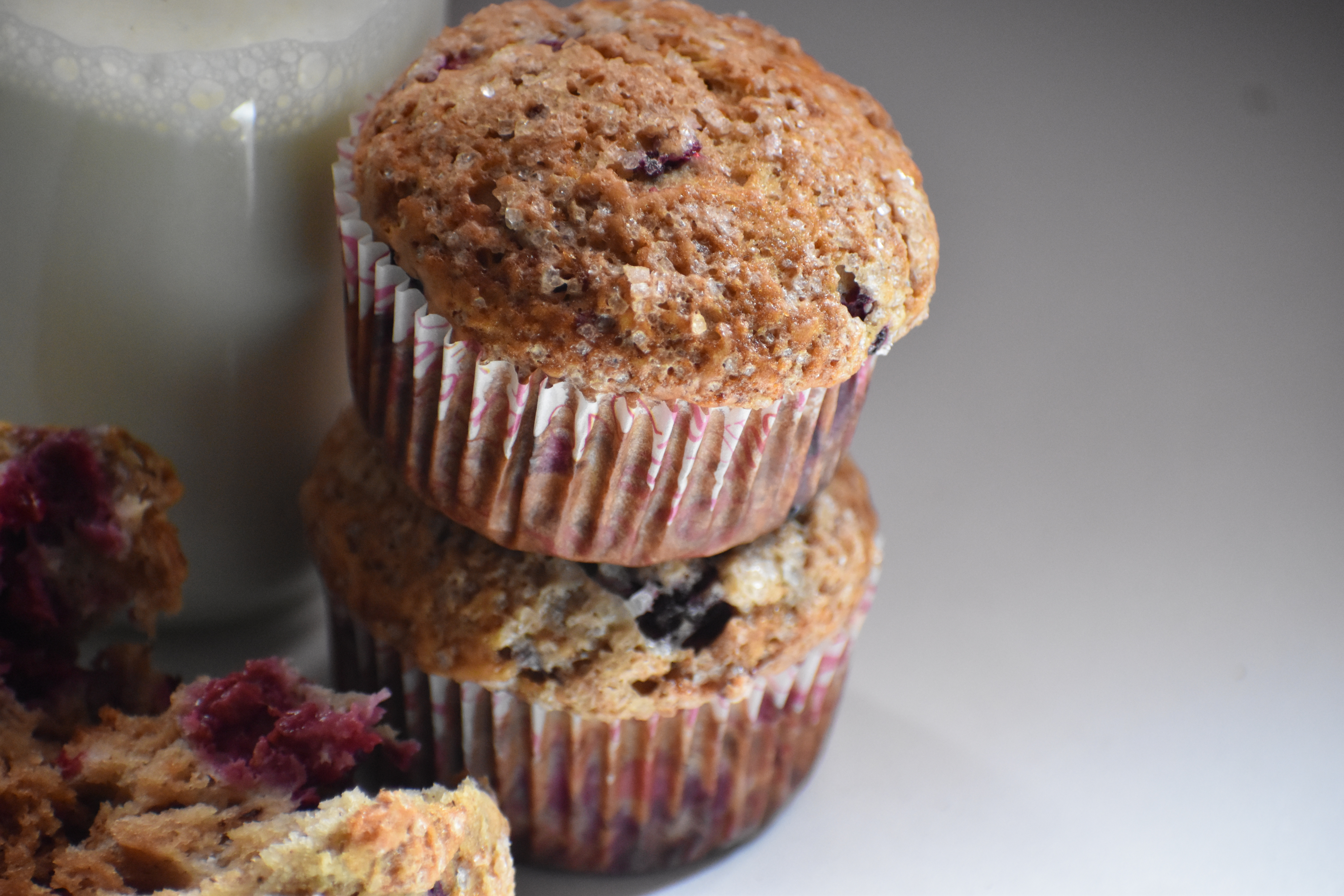 Easy Banana Raspberry Muffins