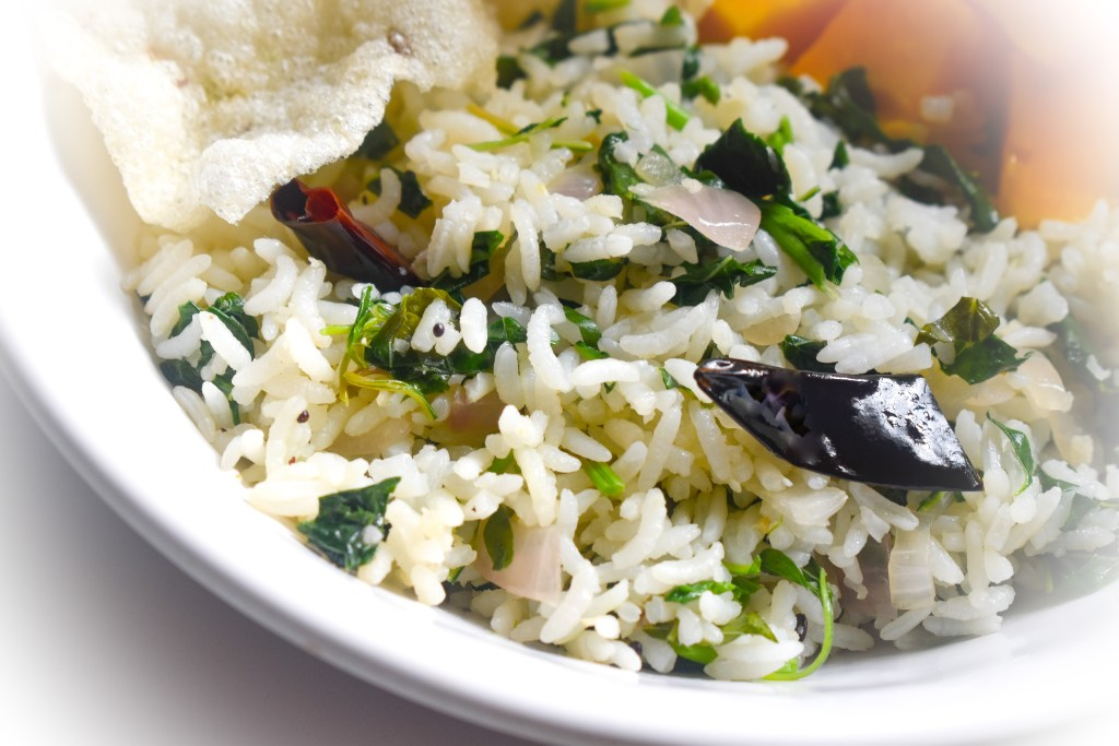 Keerai Sadham | Spinach Fried Rice - Parveenskitchen.com