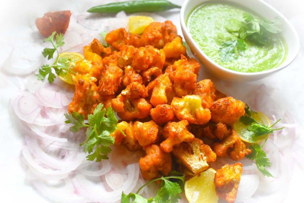 Crispy Cauliflower Bites - Parveenskitchen.com