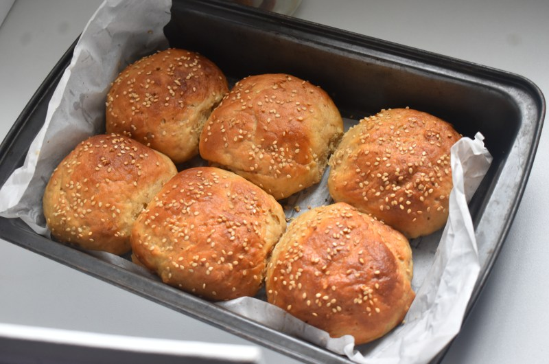 Homemade Whole Wheat Flour Burger Buns