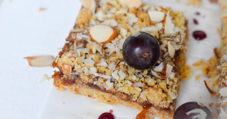 Grape and Almond Pie Bars