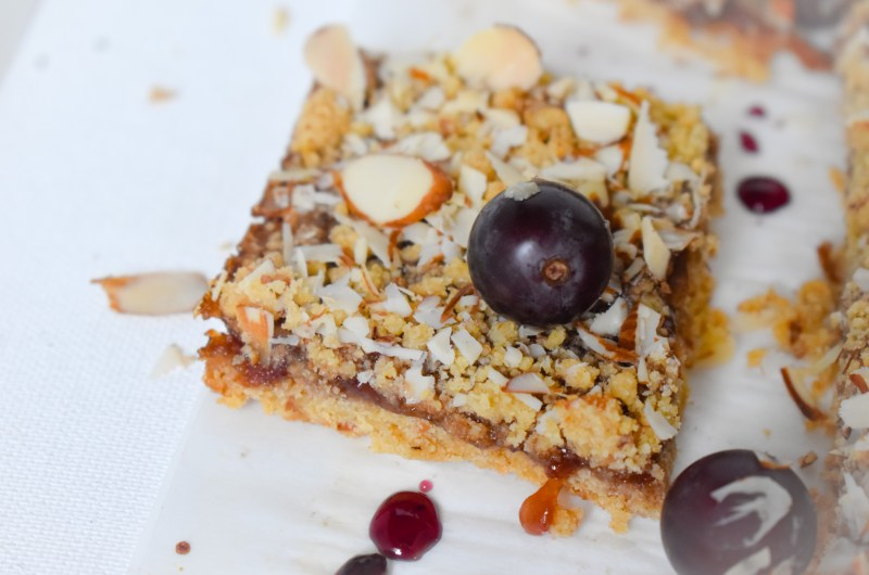Grape Almond Pie bars