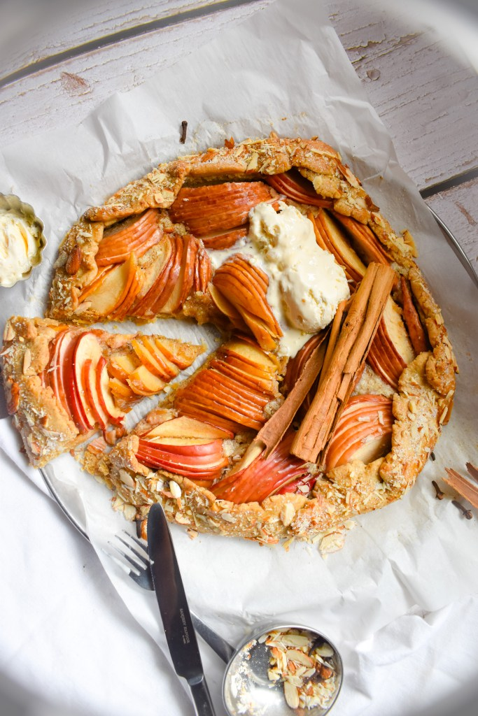 Spiced Frangipane Apple Galette - Parveenskitchen.com