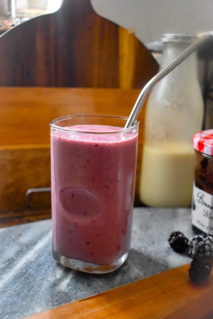 Blackberry Jam Smoothie - Parveenskitchen.com