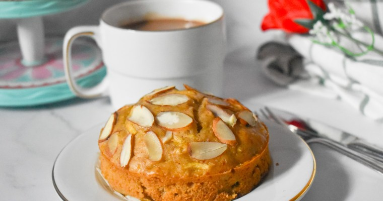 Healthy Almond Apple Snack Cake