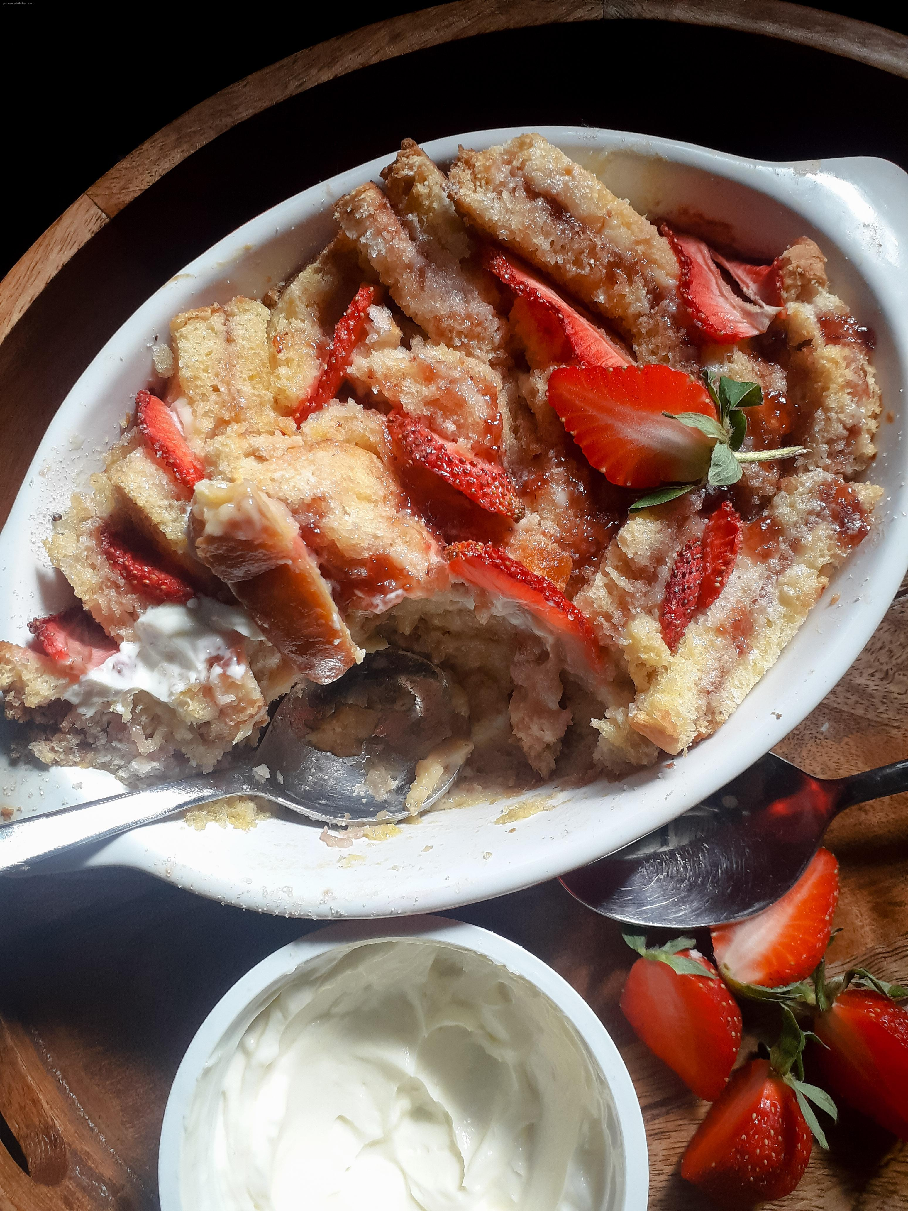 Strawberry Cheesecake French Toast Bake