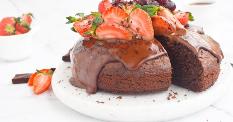 Chocolate Ricotta Cake with Chocolate Ganache topping