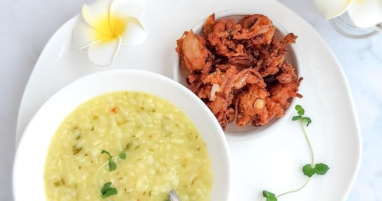 Spicy Kanji and Onion Pakoda