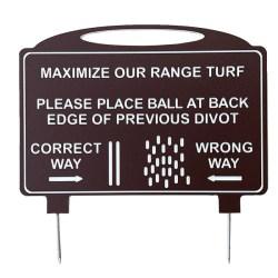 Par West Turf Driving Range Pattern Sign Spike