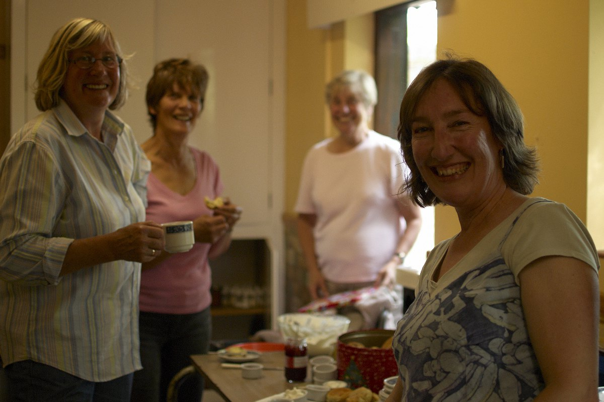 A scene from the 'engine room' of the cream tea production facility