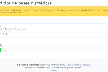 Convertidor binario octal decimal hexadecimal en JavaScript