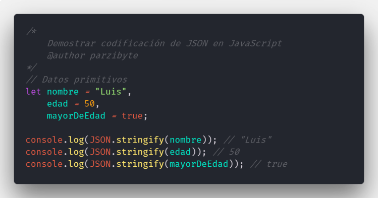 Codificar y decodificar JSON en JavaScript y Node JS