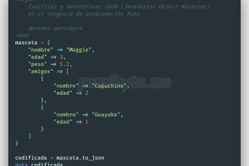 Codificar y decodificar JSON en Ruby usando to_json y JSON.parse