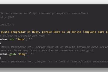 Remover parte de una cadena o remplazar por otra usando Ruby, gsub y sub