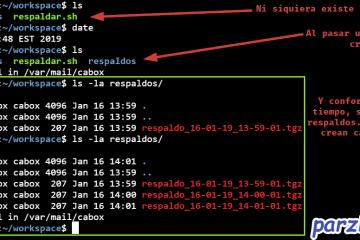 Respaldando carpeta cada minuto usando cron y script de Linux