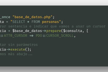Consultar datos de una tabla usando un cursor - PDO, PHP y MySQL