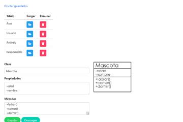 Generador de diagramas de clase UML con JavaScript y Canvas