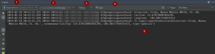 Logcat de Android Studio