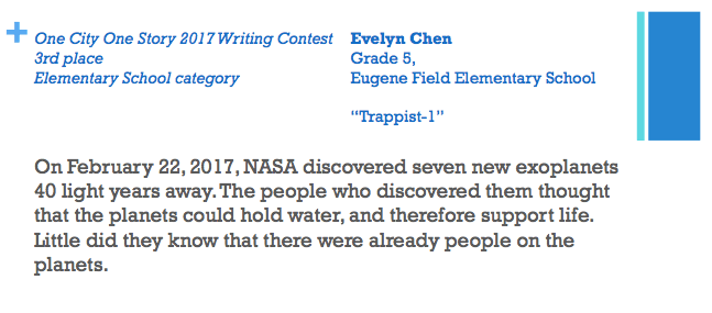 Trappist-1 -- a story by Evelyn Chen