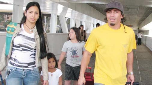 Imagen del Inca Valero con su familia