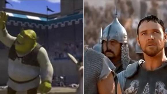 shrek gladiador