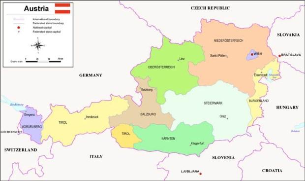 Baja Austria (Niederösterreich) y Carintia (Karnten)