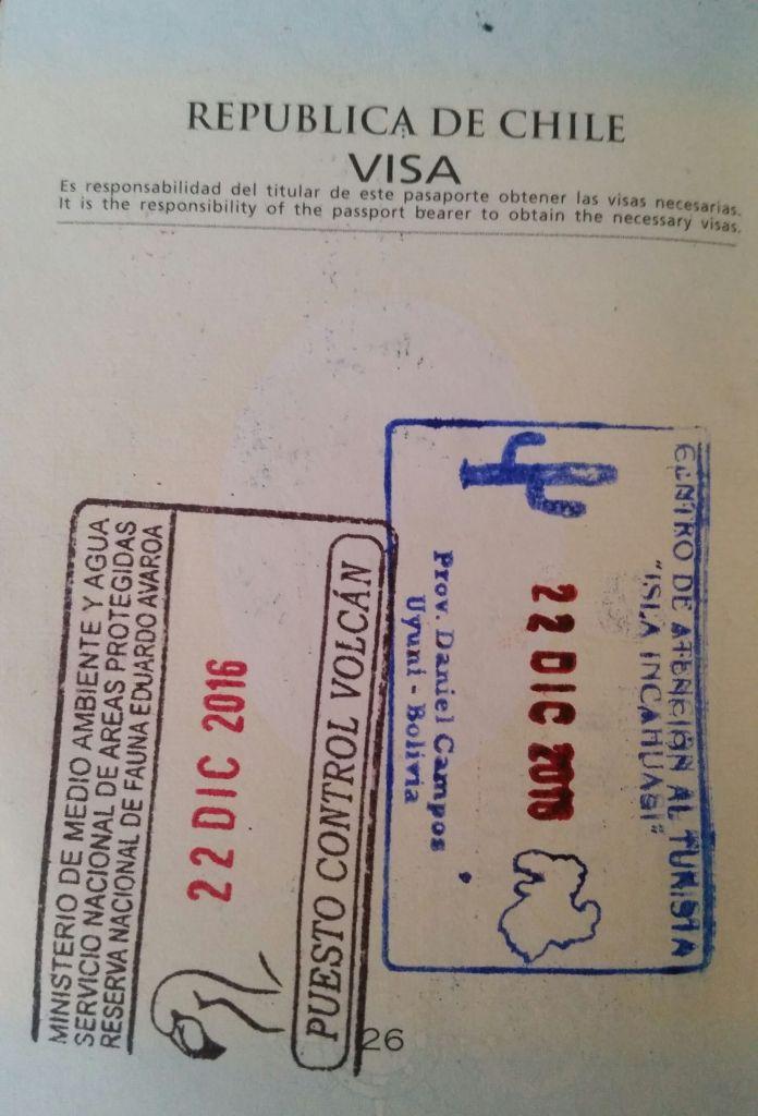 Sellos para el pasaporte :)