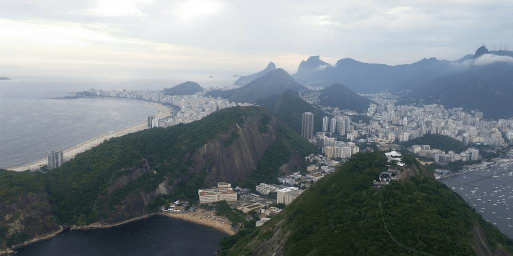Vista de la bahía de Guanabara desde el Pan de Azúcar