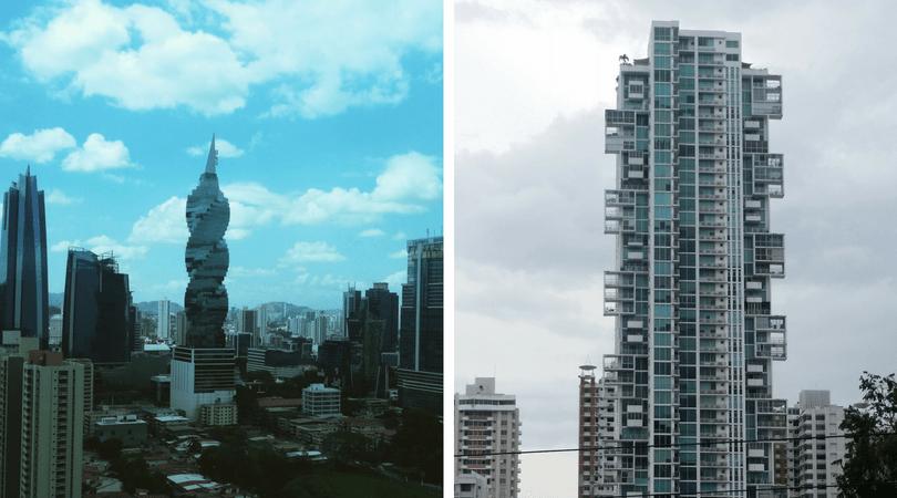 La alocada arquitectura de los edificios en Ciudad de Panamá