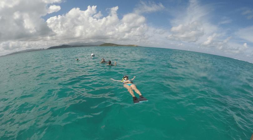 Luego del snorkel, disfrutando del mar