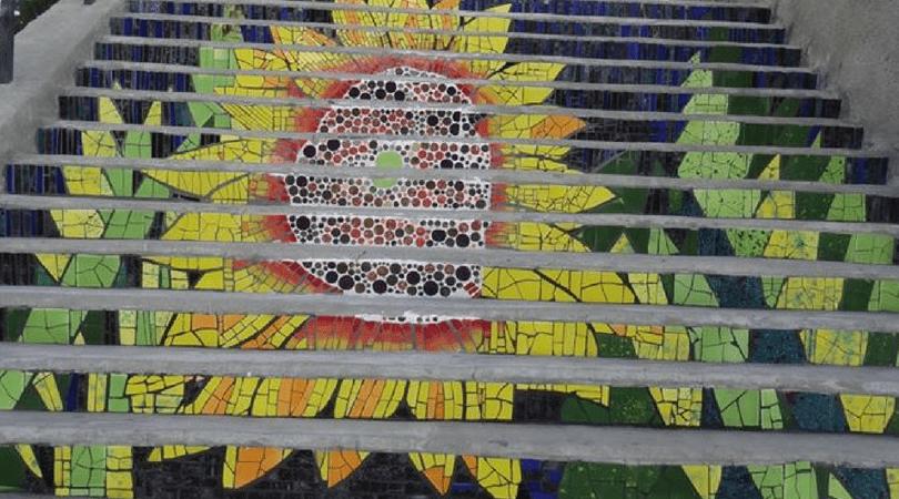 Escalera Plaza de los Poetas