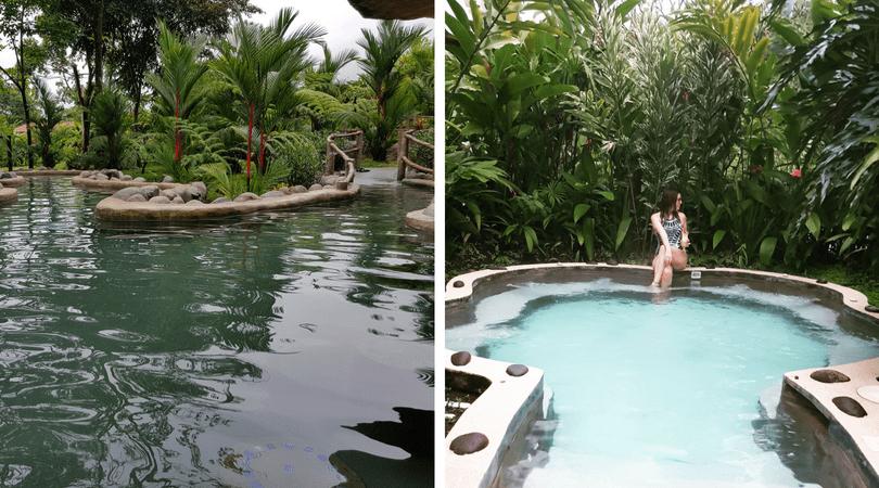Aguas termales en Volcano Lodge Springs y las exquisitas piscinas de Casa Luna