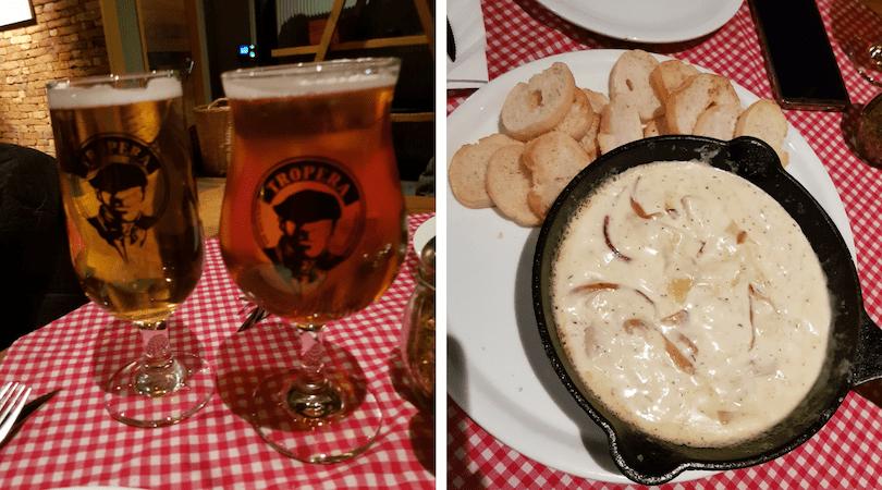 Las cervezas de Mesa Tropera y su dip de alcachofas