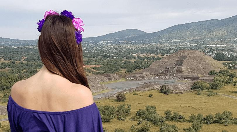 Vista desde la pirámide del Sol