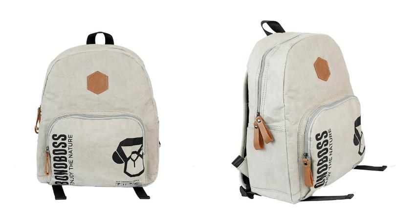 Las mochilas de papel de Bonoboss son resistentes al agua y el diseño es muy bonito
