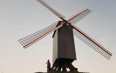 Los imperdibles molinos de Brujas – cómo llegar a Kruisvest